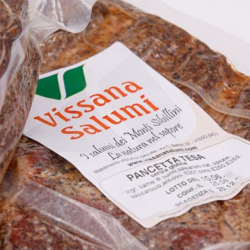 Pancetta Tesa Affettata 250g Vissana Salumi
