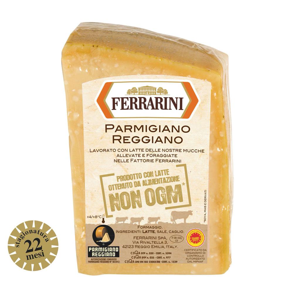 Parmigiano Reggiano DOP non OGM 22 mesi 1Kg Ferrarini